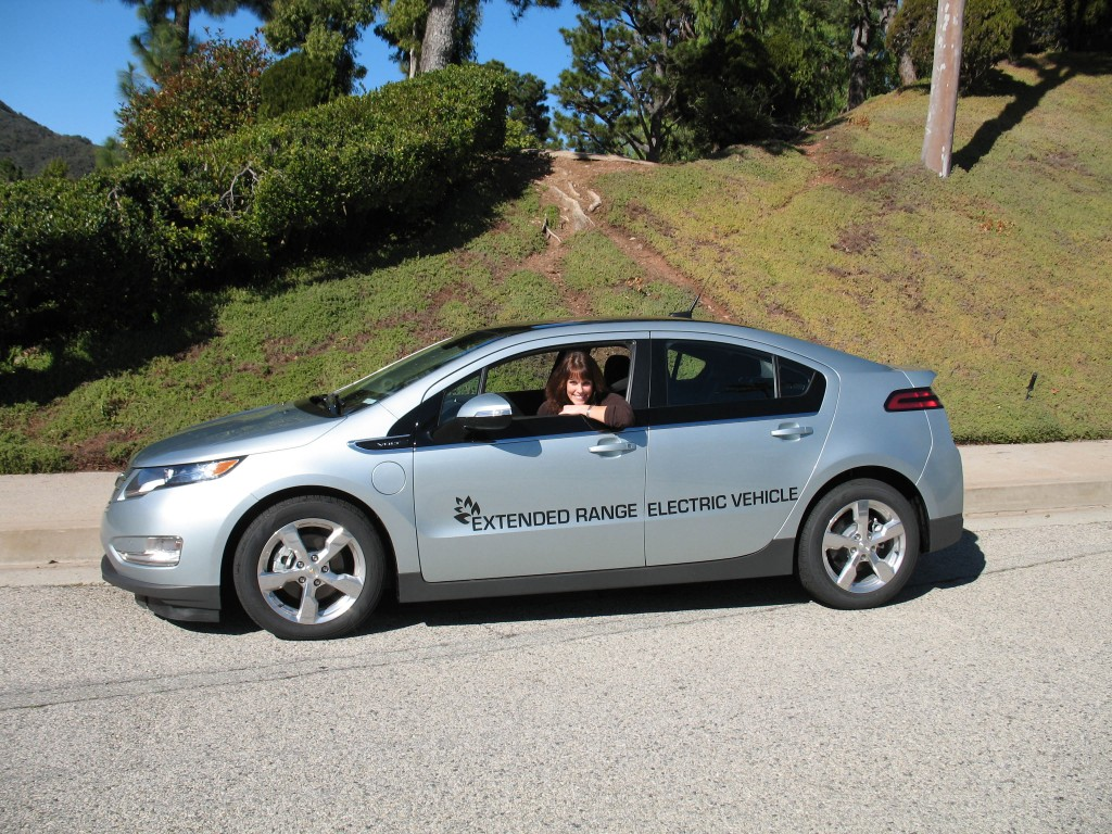 Alexandra Paul Chevy Volt electric car baywatch
