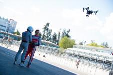 Formula E the chase Mahindra drone Mexico