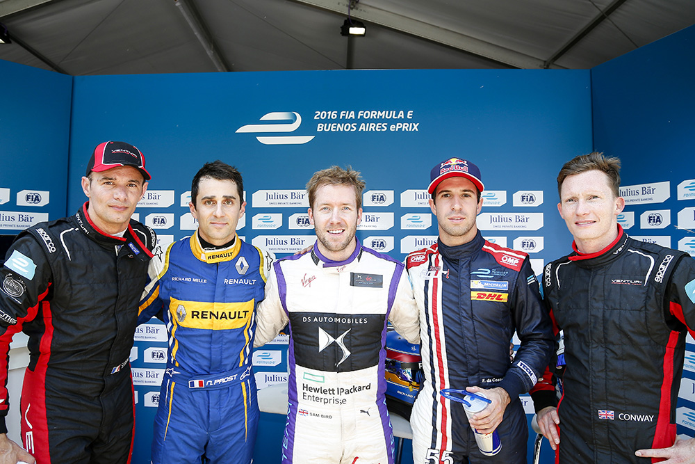 Stéphane SARRAZIN, Nicolas PROST, Sam BIRD, Antonio Felix DA COSTA and Mike CONWAY